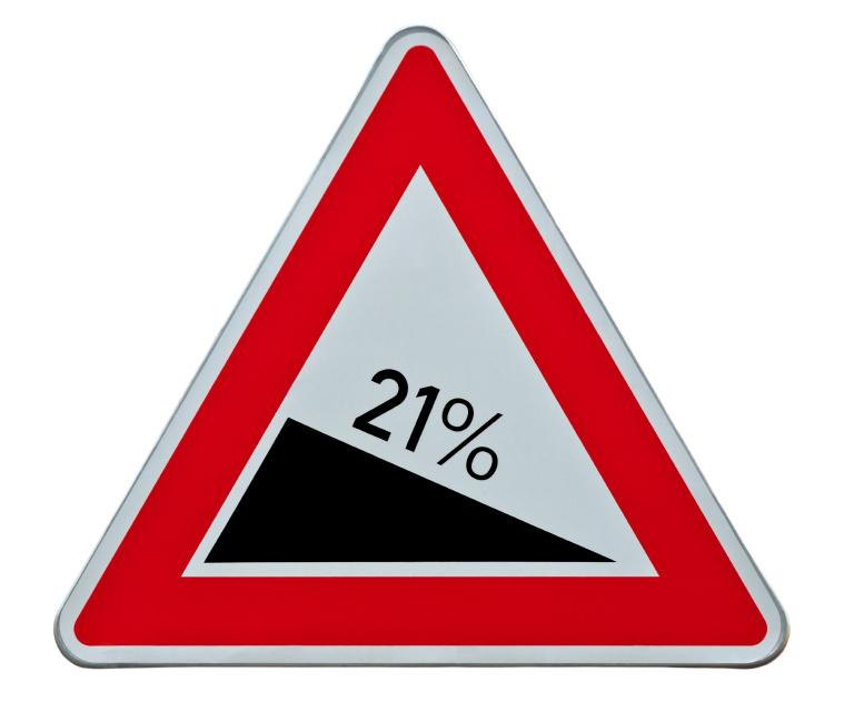 BTW tarief 21% naar beneden